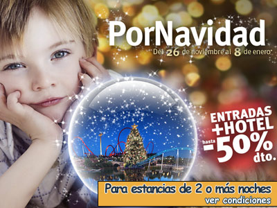 reserva de hoteles portaventura en navidad y fin de año con entradas incluidas