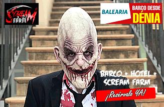 Halloween Barco + Hotel 2 noches + Scream Farm Mallorca desde 149€/pers.