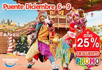 PortAventura. Reserva 6-9 dic. Hotel Ruleta PortAventura 4* hasta 25% de dto.