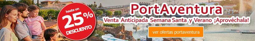 ver más ofertas Hotel + Entradas Semana Santa y Verano PortAventura 25% Descuento