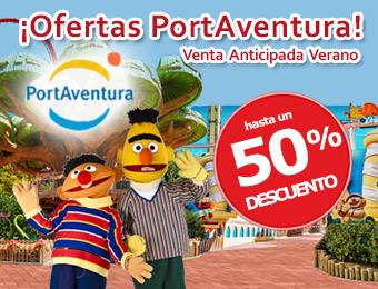 Compra tu Hotel + Entradas PortAventura 50% Descuento